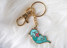 Load image into Gallery viewer, Keychain - Sea Otter - Mint