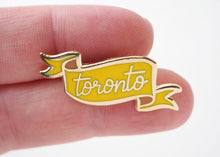 Load image into Gallery viewer, Lapel Pin - Toronto Banner - Yellow