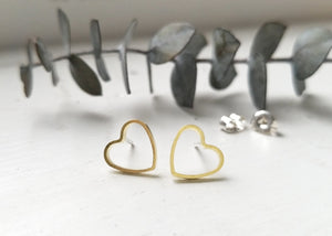 Earrings - Heart Outlines