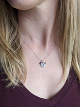 Load image into Gallery viewer, Mini Silver Charm Necklace - Compass