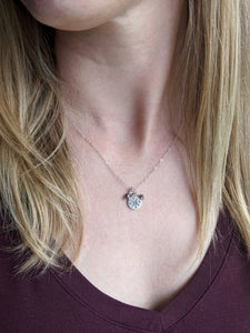 Mini Silver Charm Necklace - Compass