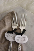 Load image into Gallery viewer, Kale Yeah Hand-Stamped Vintage Silver-Plated Fork