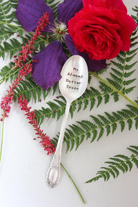 My Almond Butter Spoon Hand-Stamped Vintage Silver-Plated Spoon