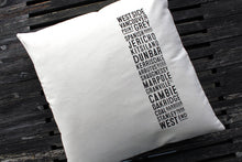 Load image into Gallery viewer, Canvas West Side Bus Scroll Pillow