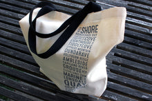 Load image into Gallery viewer, North Shore Vancouver Bus Scroll Shopping Bag