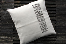 Load image into Gallery viewer, Canvas East Van Bus Scroll Pillow
