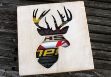 Load image into Gallery viewer, Canadian Deer Head Reclaimed Hockey Stick Shadow Box