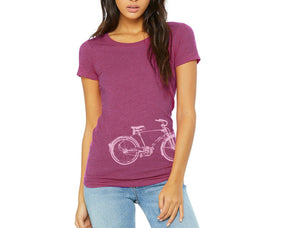 Monarch Bicycle Women's Hand Printed T-Shirt