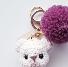 Load image into Gallery viewer, Classy Bear Keychain - Swan