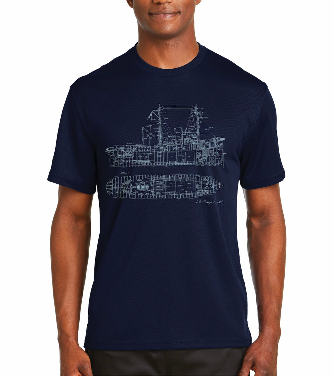 BC Shipyards Unisex Hand printed T-shirt