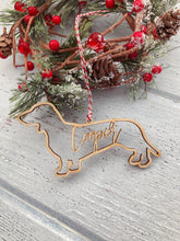 Load image into Gallery viewer, Custom Dachshund Ornament
