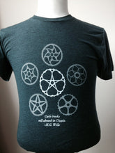 Load image into Gallery viewer, Vintage Cogs Unisex Hand printed T-shirt