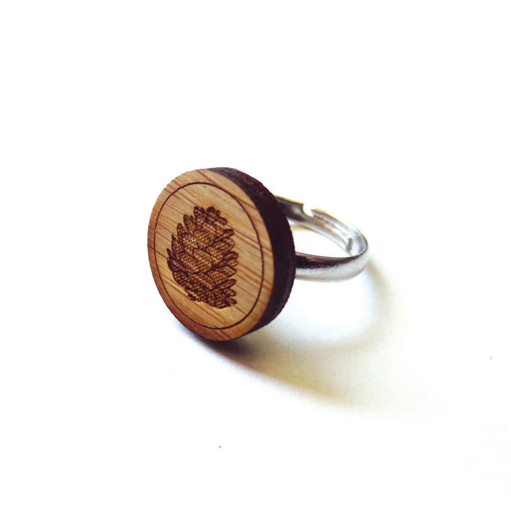 Rustic Pinecone Ring