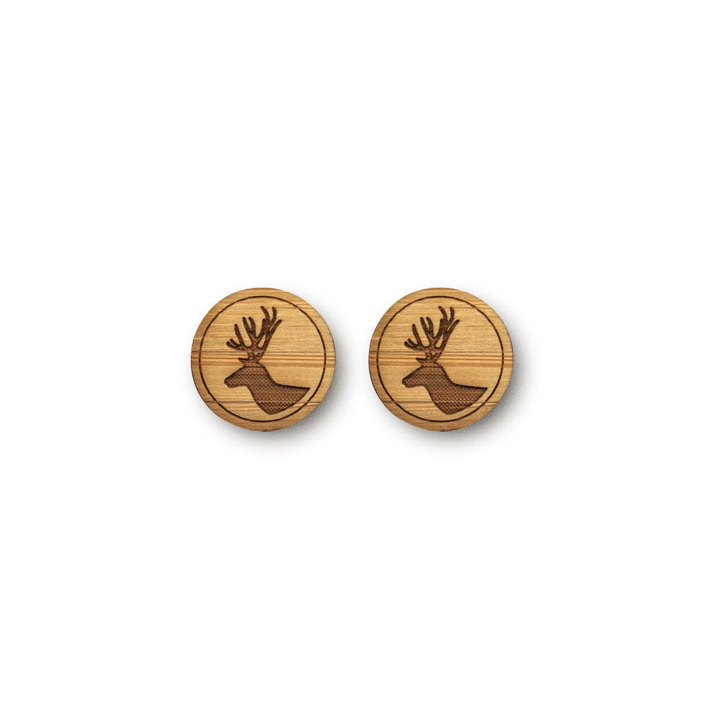 Mini Deer Stag Earrings