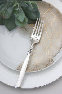 My Pizza Fork Hand-Stamped Vintage Silver-Plated Fork
