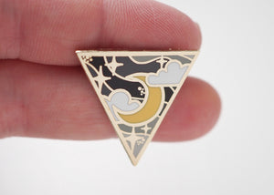 Lapel Pin - Enlightened Crescent Moon