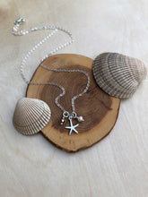 Load image into Gallery viewer, Mini Silver Charm Necklace - Starfish