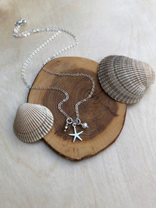 Mini Silver Charm Necklace - Starfish