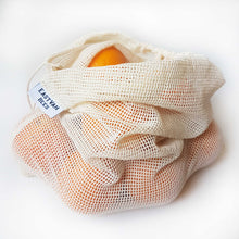 Load image into Gallery viewer, Reusable Mesh Cotton Produce Bags - 6 pack