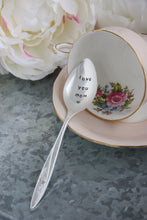 Load image into Gallery viewer, Love You Mom Hand-Stamped Silver-Plated Spoon