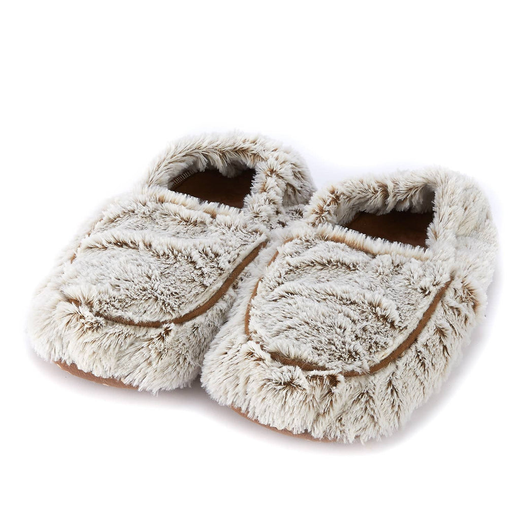 Warmies Plush Slippers - Marshmallow Brown