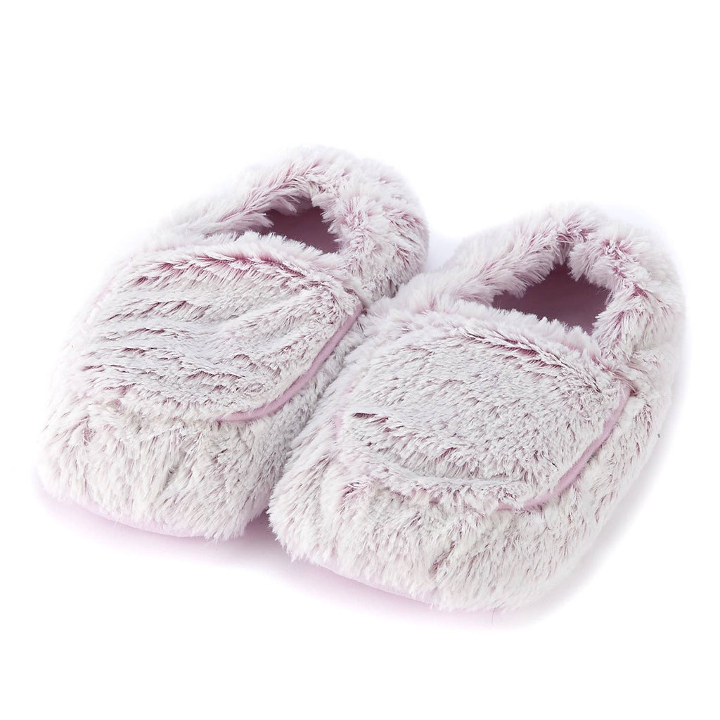 Warmies Plush Slippers - Marshmallow Pink