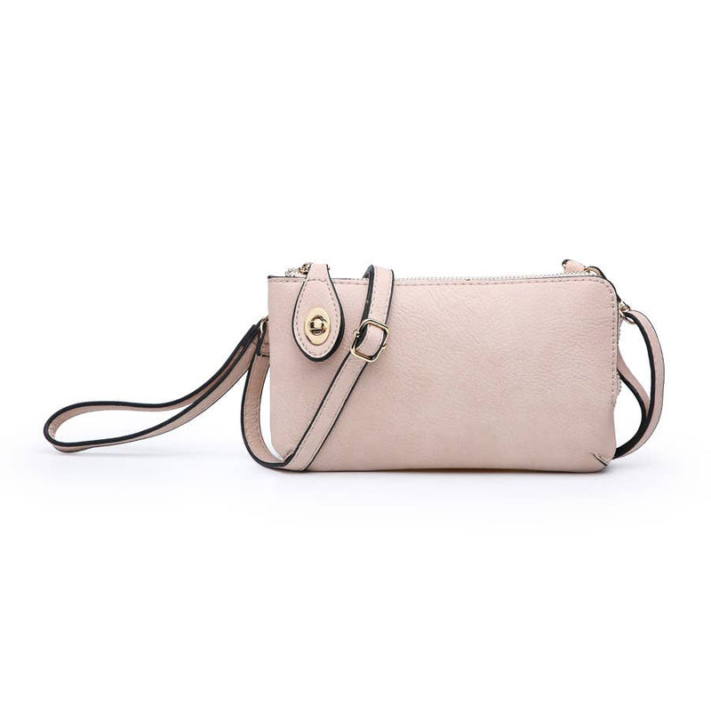 Jen & Co Kendall Twist Lock Crossbody - Light Pink