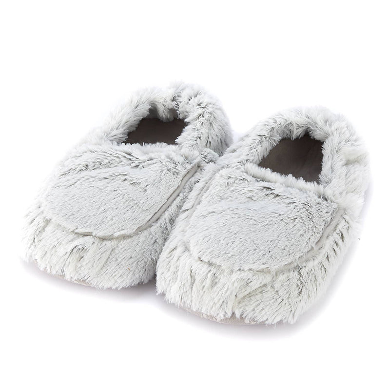 Warmies Plush Slippers - Marshmallow Gray