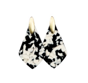 Michelle McDowell Paris Earrings - Black Tortoise
