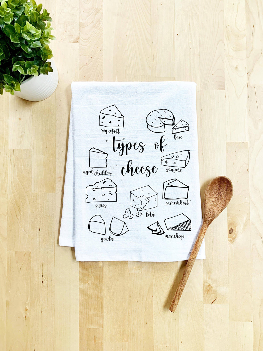 Types of Cheese Dish Towel