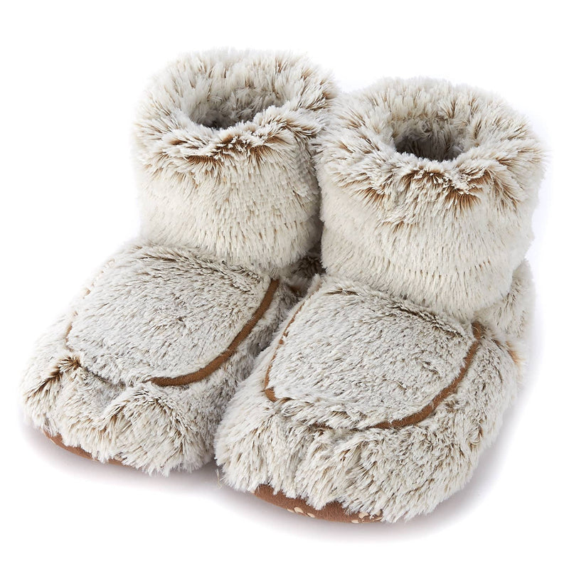 Warmies Plush Boots - Marshmallow Brown