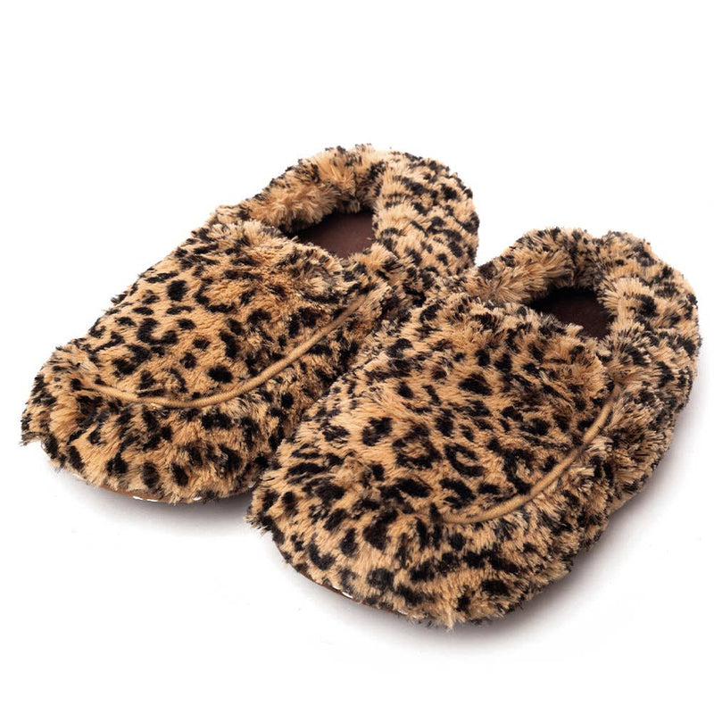 Warmies Plush Slippers - Leopard