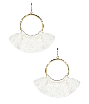 Lisi Lerch Izzy Tassel Earrings - White