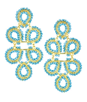 Lisi Lerch Beaded Ginger Earrings - Turquoise