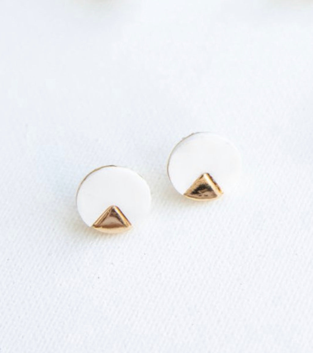 Michelle McDowell Torren Earrings - Mother of Pearl