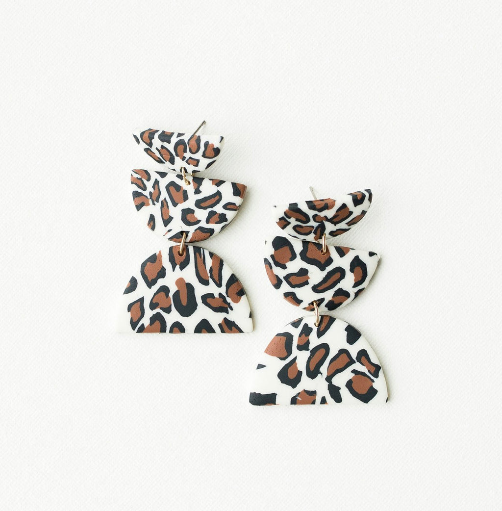 Michelle McDowell Shea Earrings - Leopard