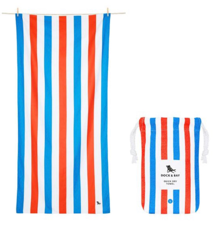 Dock & Bay Beach Towel - Summer Poolside Party