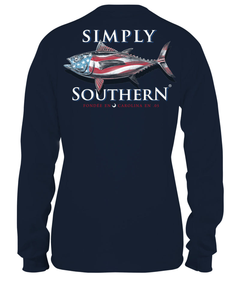 Simply Southern Tuna Long Sleeve Tee - Youth and Adult Sizes