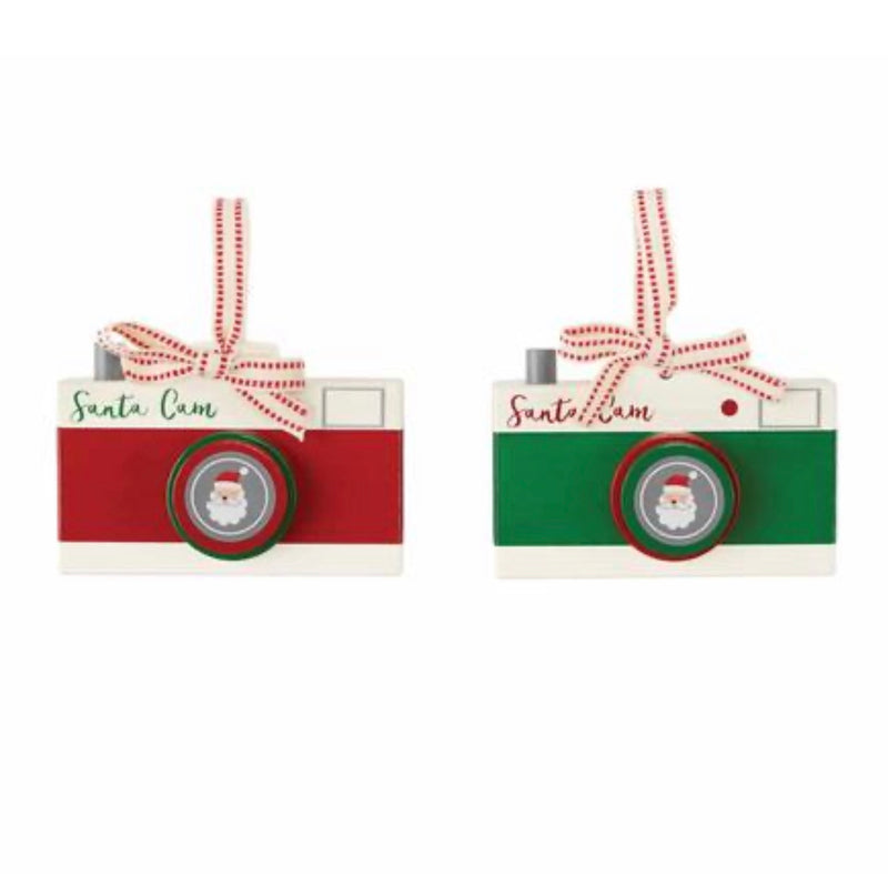 Mud Pie Santa Cam Ornament