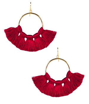 Lisi Lerch Izzy Tassel Earrings - Red