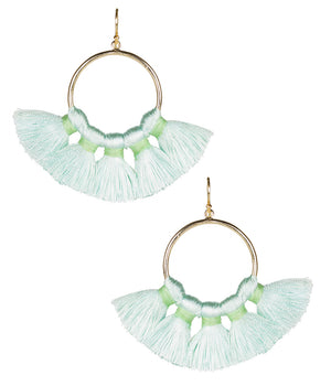 Lisi Lerch Izzy Tassel Earrings - Seafoam