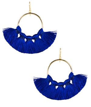Lisi Lerch Izzy Tassel Earrings - Royal