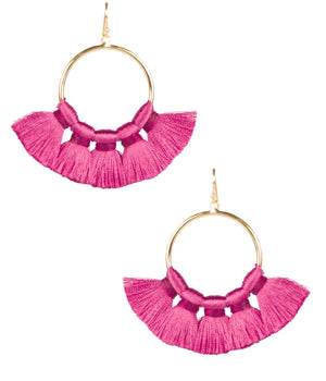 Lisi Lerch Izzy Tassel Earrings - Miss Pink
