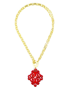 Zenzii Twirling Blossom Pendant Necklace