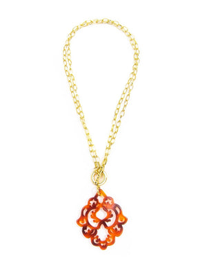 Zenzii Dare To Deco Pendant Necklace