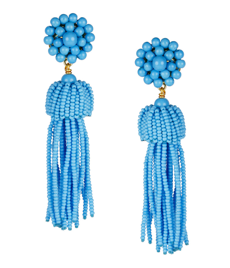 Lisi Lerch Beaded Tassel Earrings - Turquoise