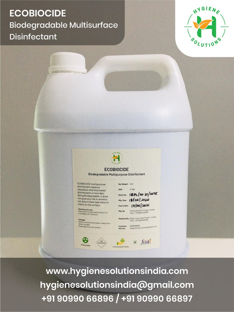 Ecobiocide 5KG - Biodegradable Surface Disinfectant