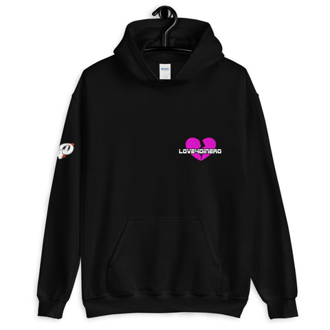 Fell For Dinero Hoodie (Pink Heart)
