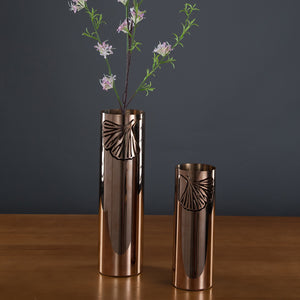 Charm of Ginko Series Rose Gold Vase Small