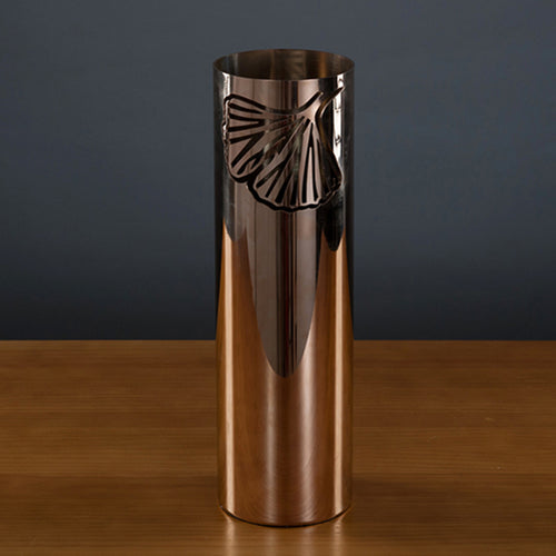 Charm of Ginko Series Rose Gold Vase Large
